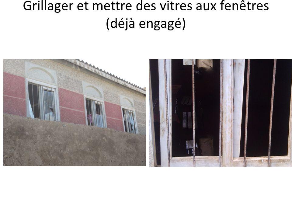 Grillager et mettre des vitres aux fenêtres (déjà engagé)