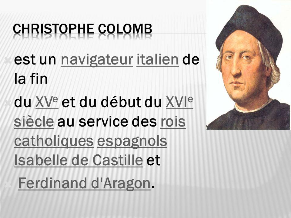 est un navigateur italien de la finnavigateuritalien du XV e et du début du XVI e siècle au service des rois catholiques espagnols Isabelle de Castill