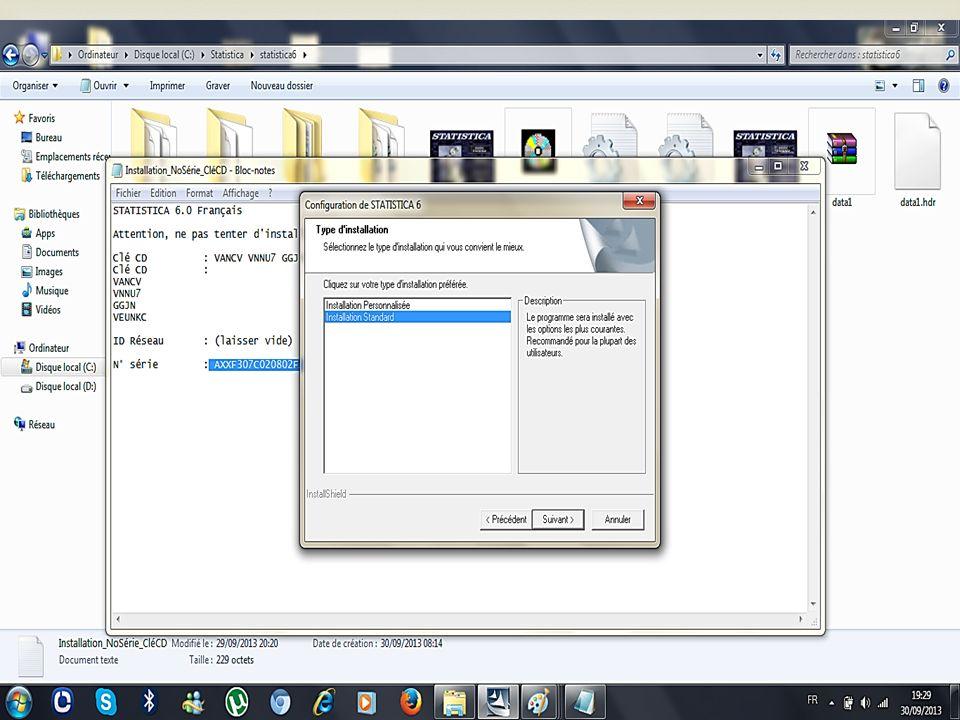 Une nouvelle fenêtre apparait avec deux choix dinstallation; CHOISISEZ : « Instalation standard » et puis cliquez sur suivant!