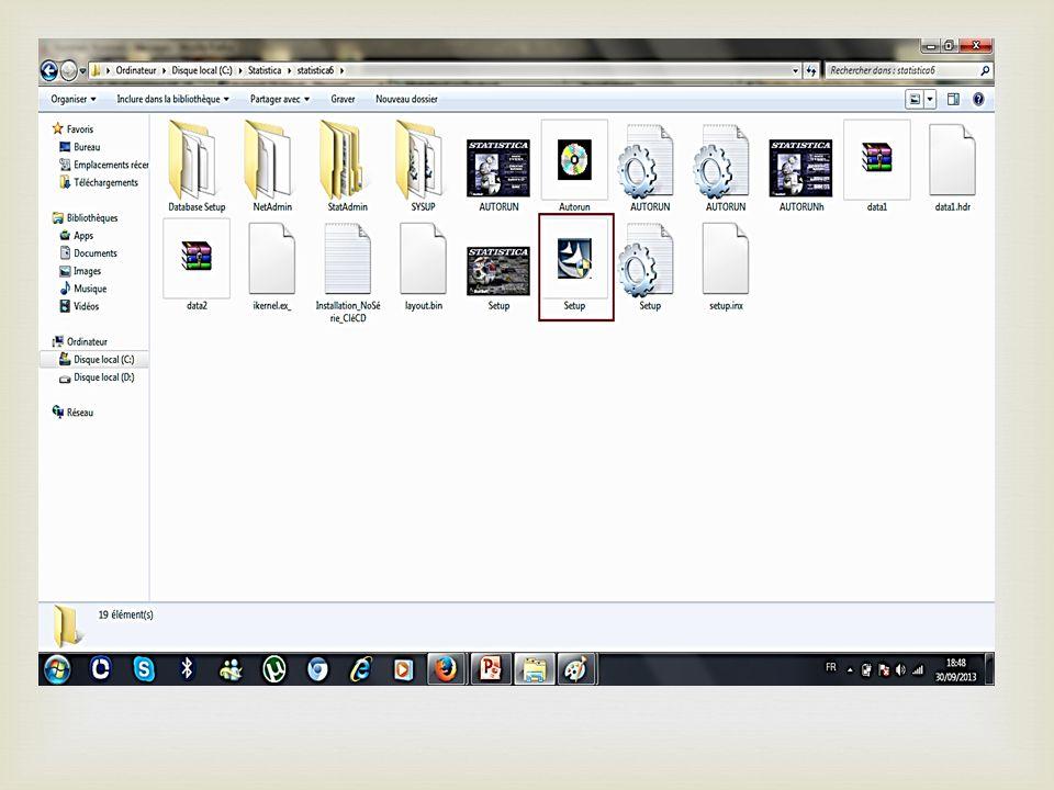 Une nouvelle fenêtre apparait encore cherchez cet icone « setup »….. Double clique gauche SVP!!! Etape 7