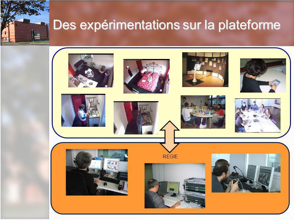 Des expérimentations sur la plateforme REGIE
