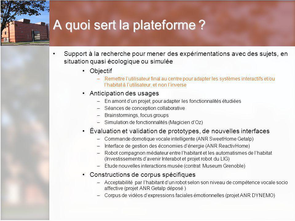 Description de la plateforme Espace de 200 mètres carrés au CTL (campus St Martin dHères)