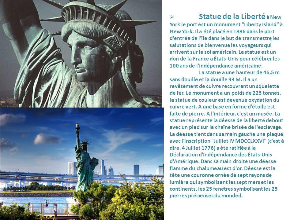 Statue de la Liberté à New York le port est un monument