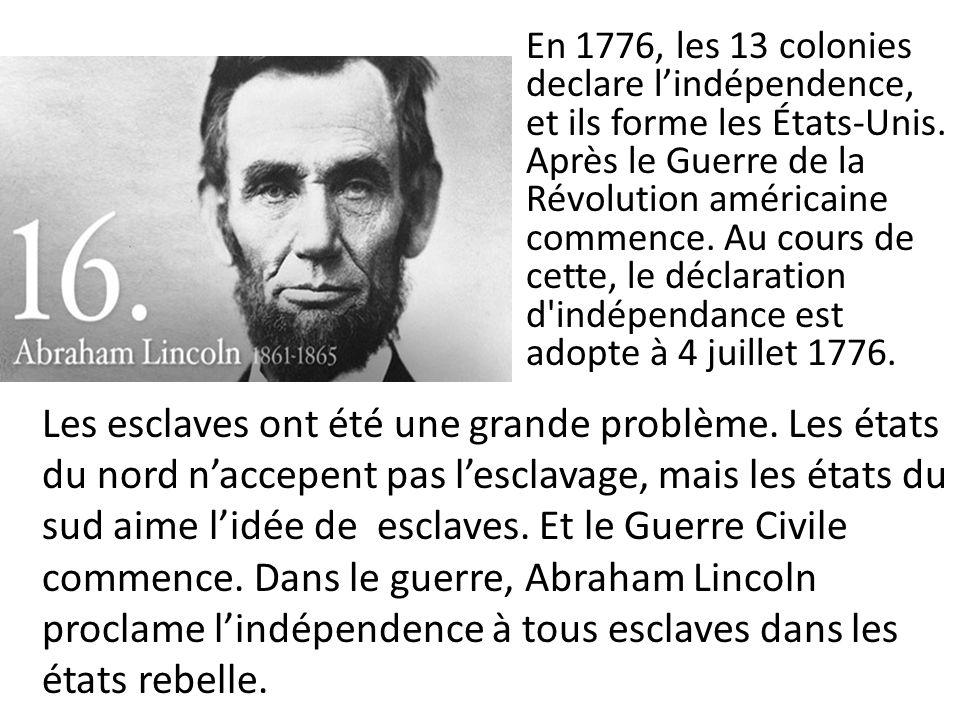 George Washington (1732 -1799), le premier président des États-Unis Thomas Edison(1874- 1931), Scientifique Benjamin Franklin (1706-1790) Scientifique Écrivain Personnalité politique Abraham Lincoln(1809-1865) président John F.