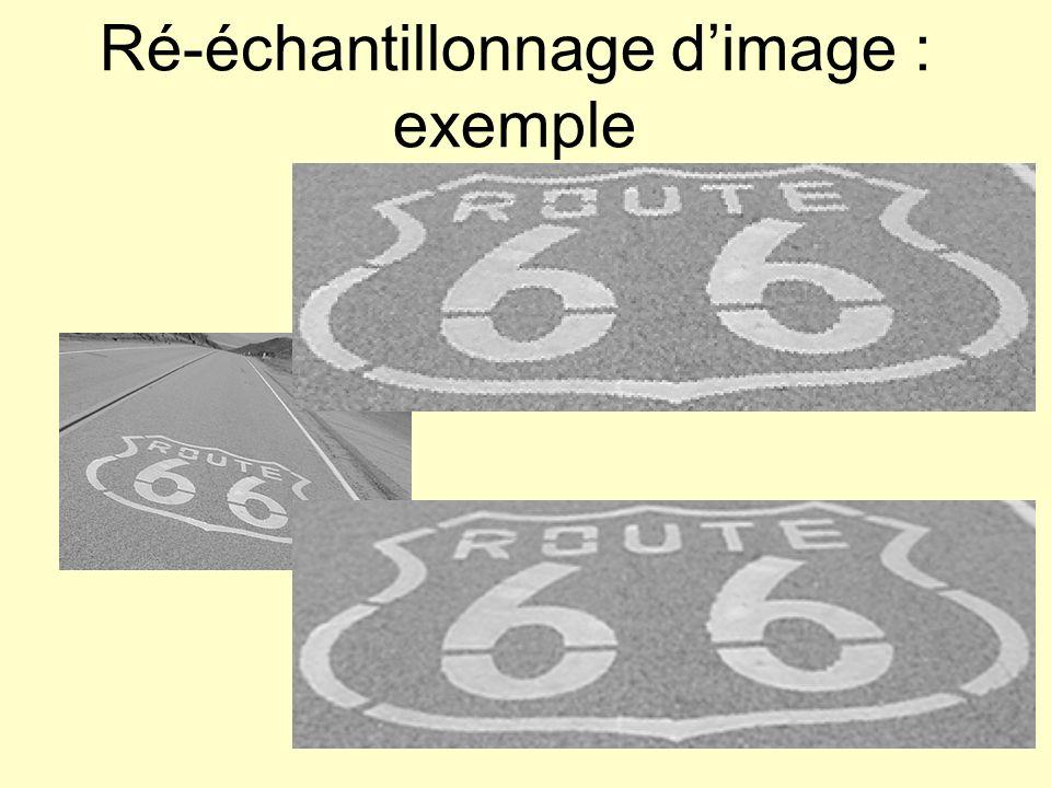 Ré-échantillonnage dimage : exemple plus proche voisin bilinéaire