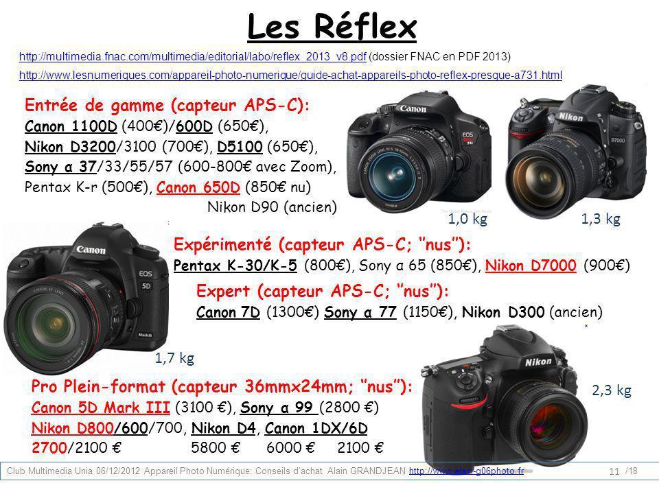 Les Réflex http://multimedia.fnac.com/multimedia/editorial/labo/reflex_2013_v8.pdfhttp://multimedia.fnac.com/multimedia/editorial/labo/reflex_2013_v8.