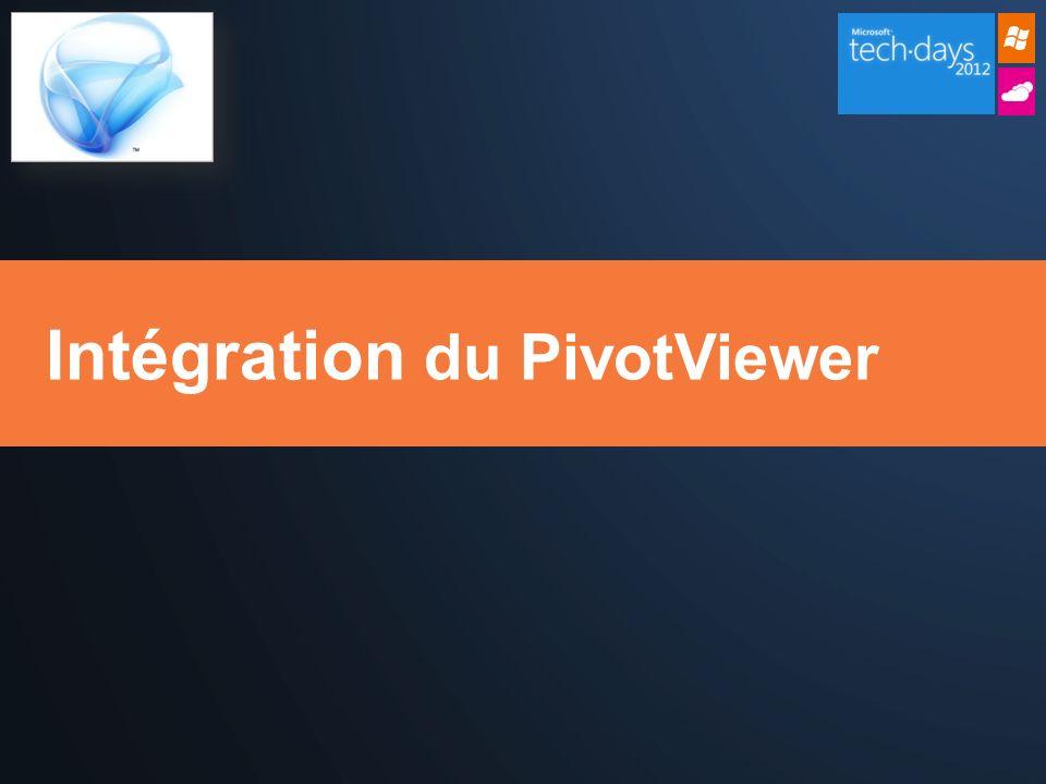Intégration du PivotViewer