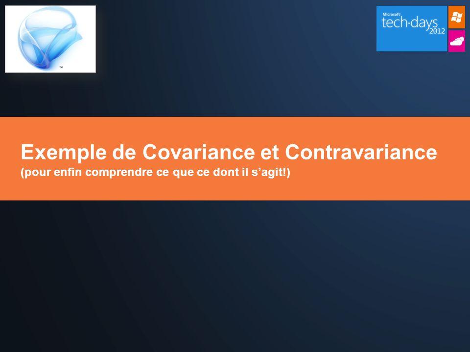 Exemple de Covariance et Contravariance (pour enfin comprendre ce que ce dont il sagit!)
