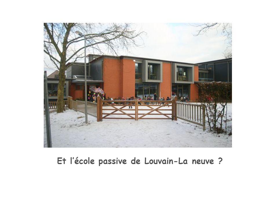 Et lécole passive de Louvain-La neuve ?