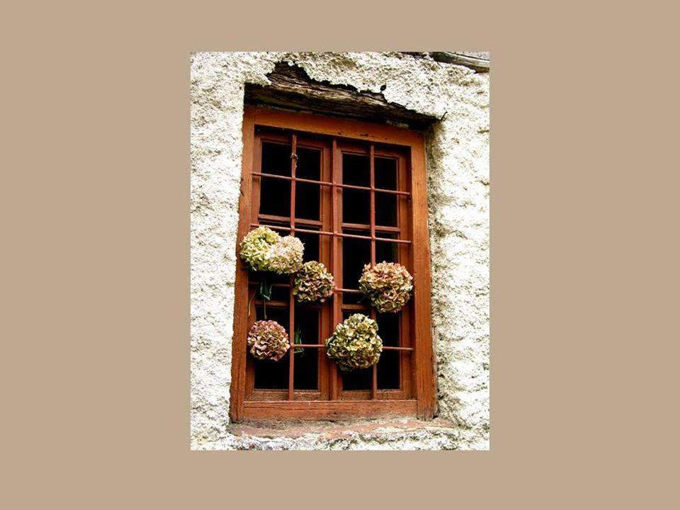 Il y a les fenêtres des vieux murs qui ouvrent un espace vers le passé et les ancêtres… Ce sont les fenêtres de la mémoire.