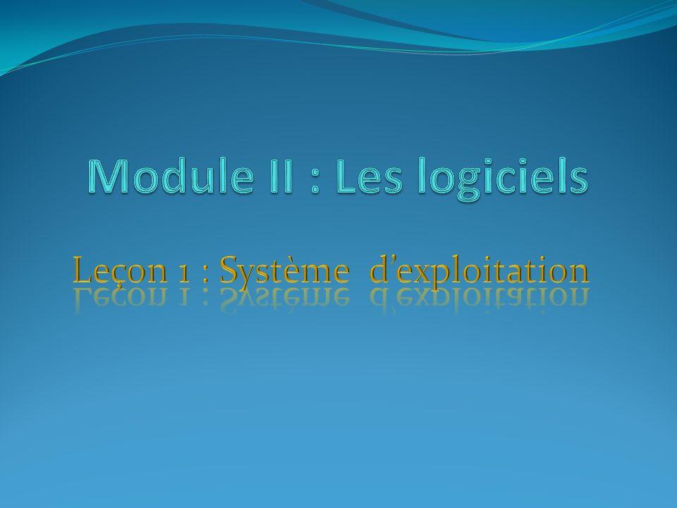 I- Fonctionnalités dun système dexploitation 1) Définition un système dexploitation est un logiciel de base qui permet dexploiter les ressources matériels et logiciel dun ordinateur.