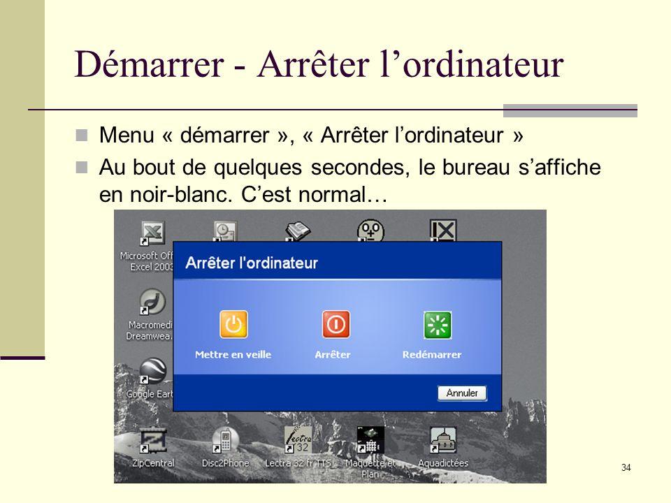 33 Tous les programmes Pour trier tous les programmes, cliquez à droite sur un élément et choisissez « Trier par nom ». Egalement pour « Supprimer » e