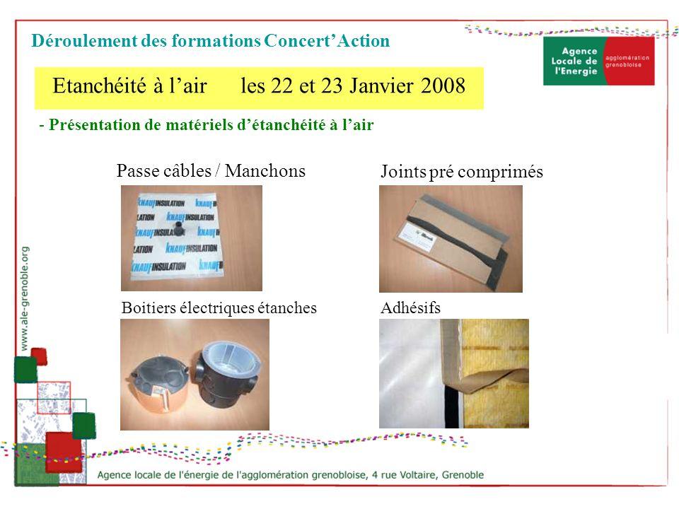 - Présentation de matériels détanchéité à lair Joints pré comprimés Boitiers électriques étanchesAdhésifs Passe câbles / Manchons Etanchéité à lair le