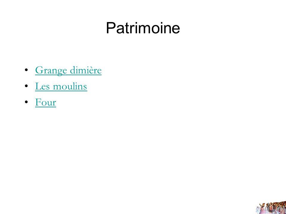 Patrimoine Grange dimière Les moulins Four
