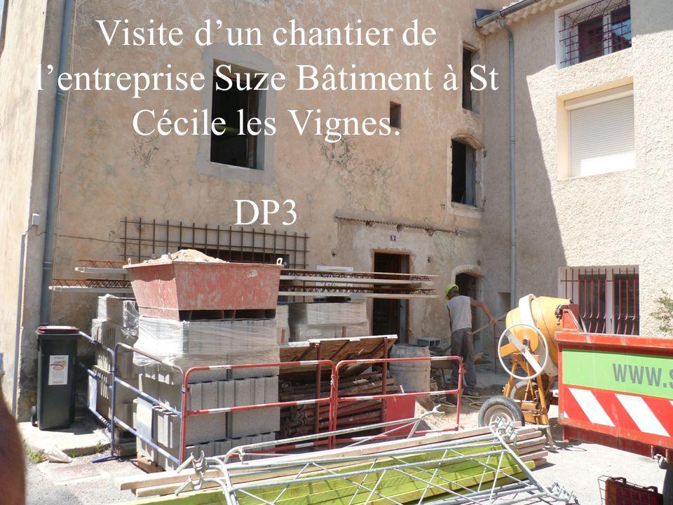 Visite dun chantier de lentreprise Suze Bâtiment à St Cécile les Vignes. DP3