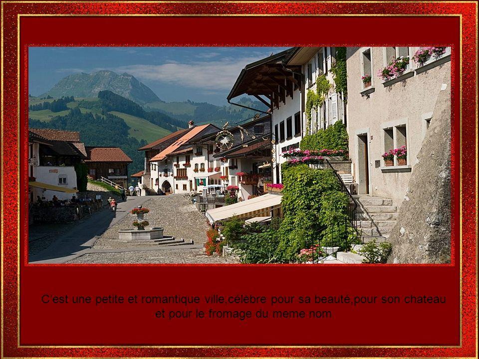 Gruyères est lun des endroits les plus populaires de la Suisse