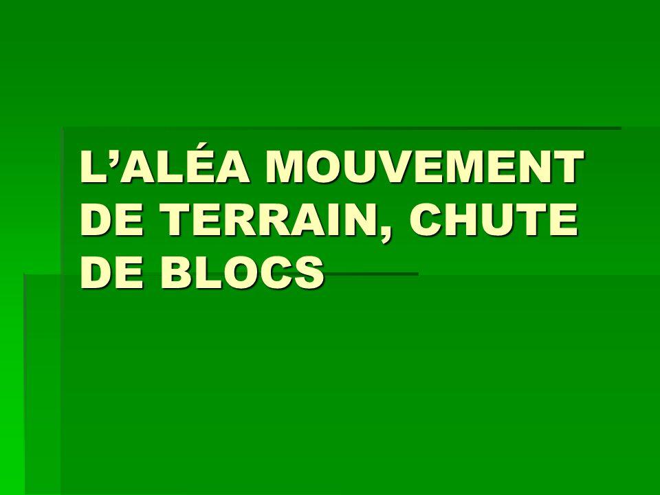 LALÉA MOUVEMENT DE TERRAIN, CHUTE DE BLOCS