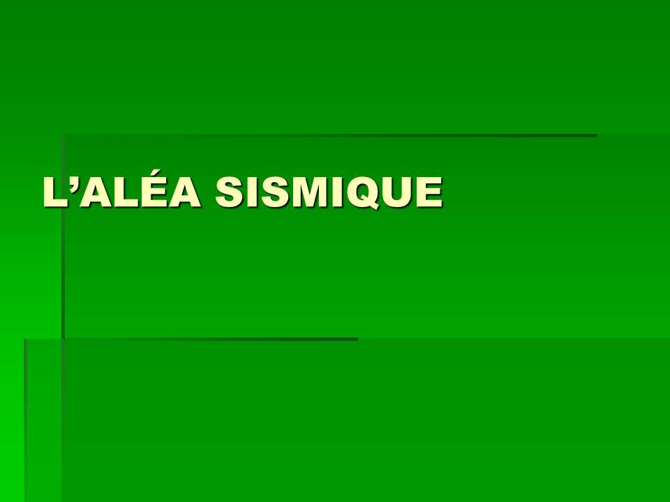 LALÉA SISMIQUE