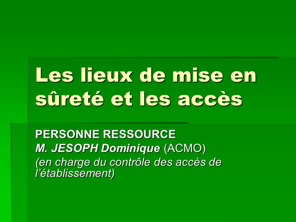 PERSONNE RESSOURCE M.