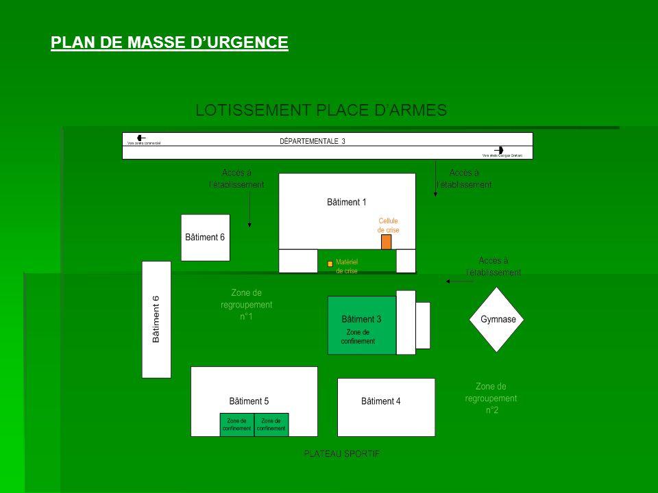 PLAN DE MASSE DURGENCE LOTISSEMENT PLACE DARMES
