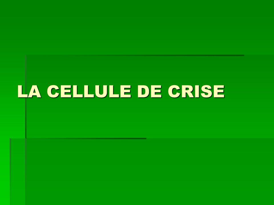 LA CELLULE DE CRISE