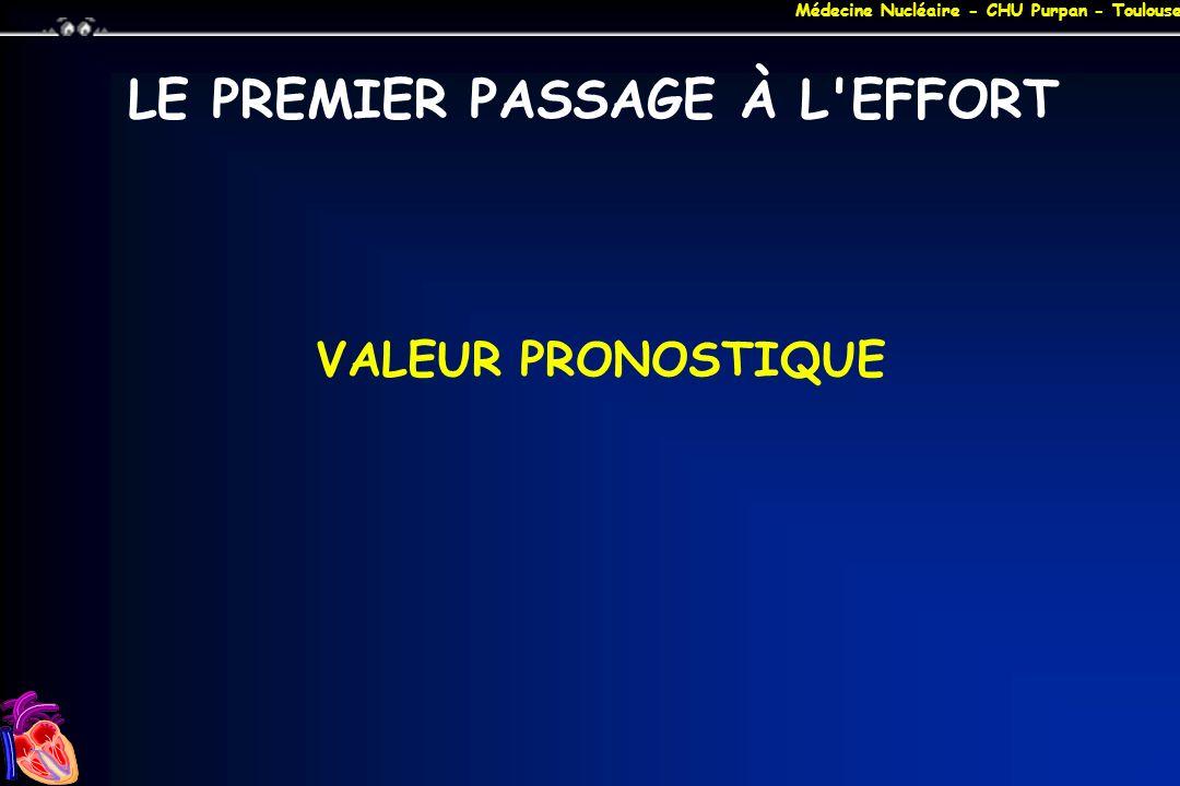 Médecine Nucléaire - CHU Purpan - Toulouse LE PREMIER PASSAGE À L'EFFORT VALEUR PRONOSTIQUE