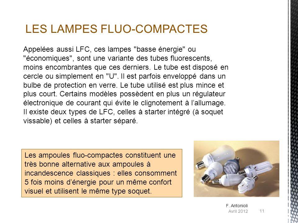 Appelées aussi LFC, ces lampes