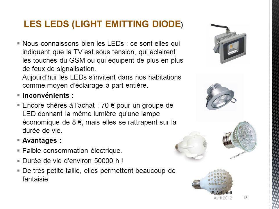Nous connaissons bien les LEDs : ce sont elles qui indiquent que la TV est sous tension, qui éclairent les touches du GSM ou qui équipent de plus en p