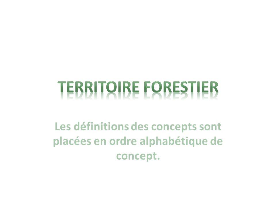 LES ACTEURS QUI INTERVIENNENT DANS LA GESTION DES TERRITOIRES FORESTIERS