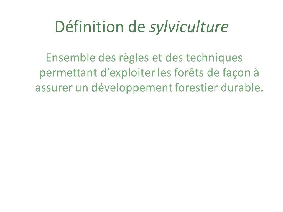 Exemples dactions faites en sylviculture Coupes partielles qui prennent en compte la régénération de la forêt Reboisement Protection contre les maladies Protection contre les insectes nuisibles Taille des arbres