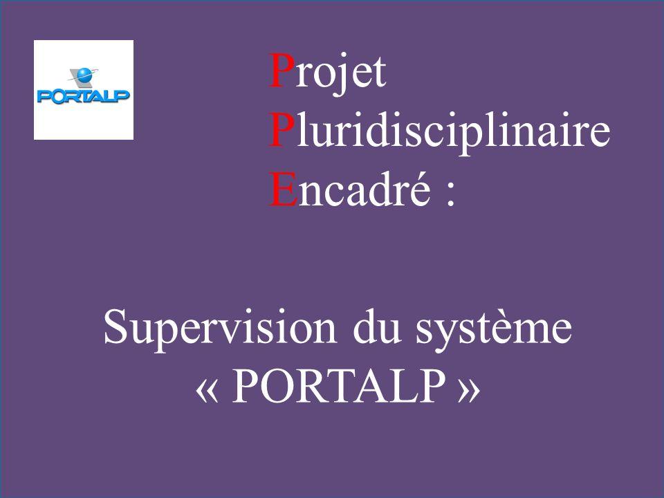 Projet Pluridisciplinaire Encadré : Supervision du système « PORTALP »