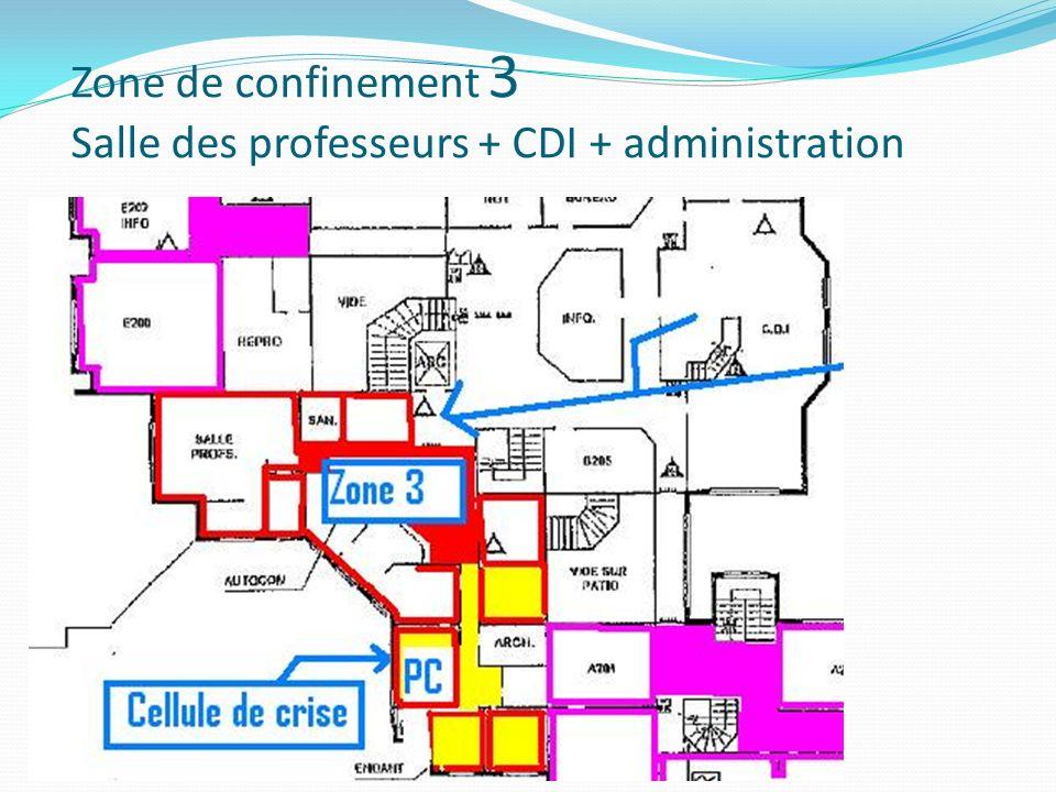 Zone de confinement 3 Salle des professeurs + CDI + administration