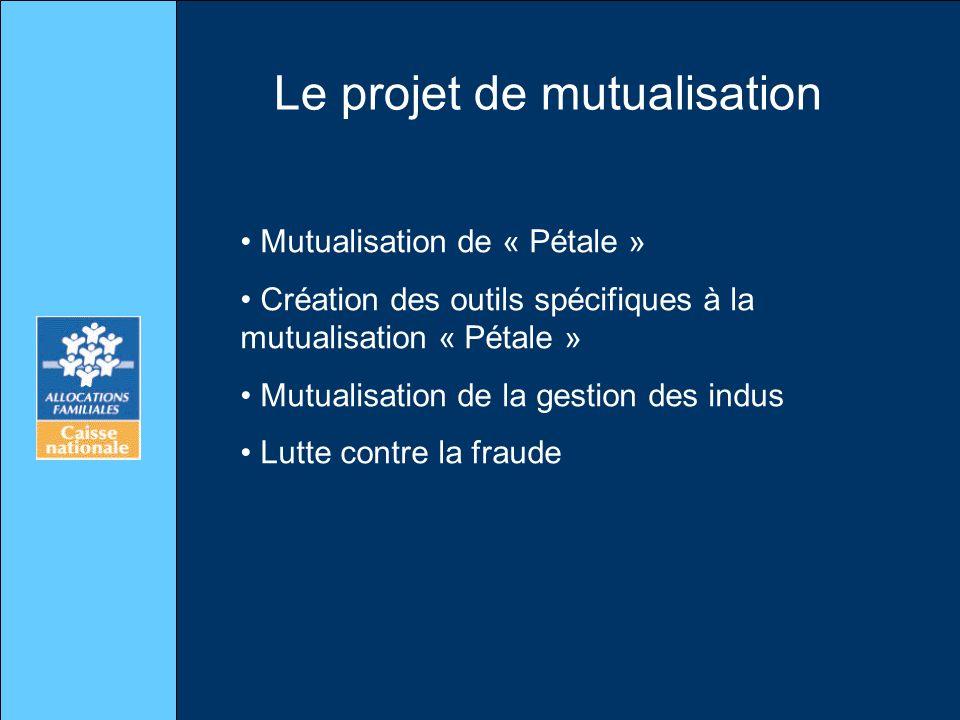 Le projet de mutualisation Mutualisation de « Pétale » Création des outils spécifiques à la mutualisation « Pétale » Mutualisation de la gestion des i