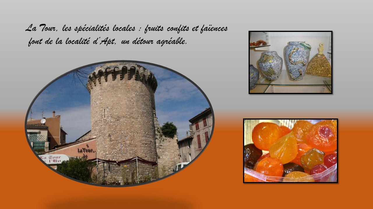 Aux environs immédiats : la terre dOcres (Gargas) ou le sentier des ocres à Roussillon et, le Pont Julien vestige de la Via Domitia.