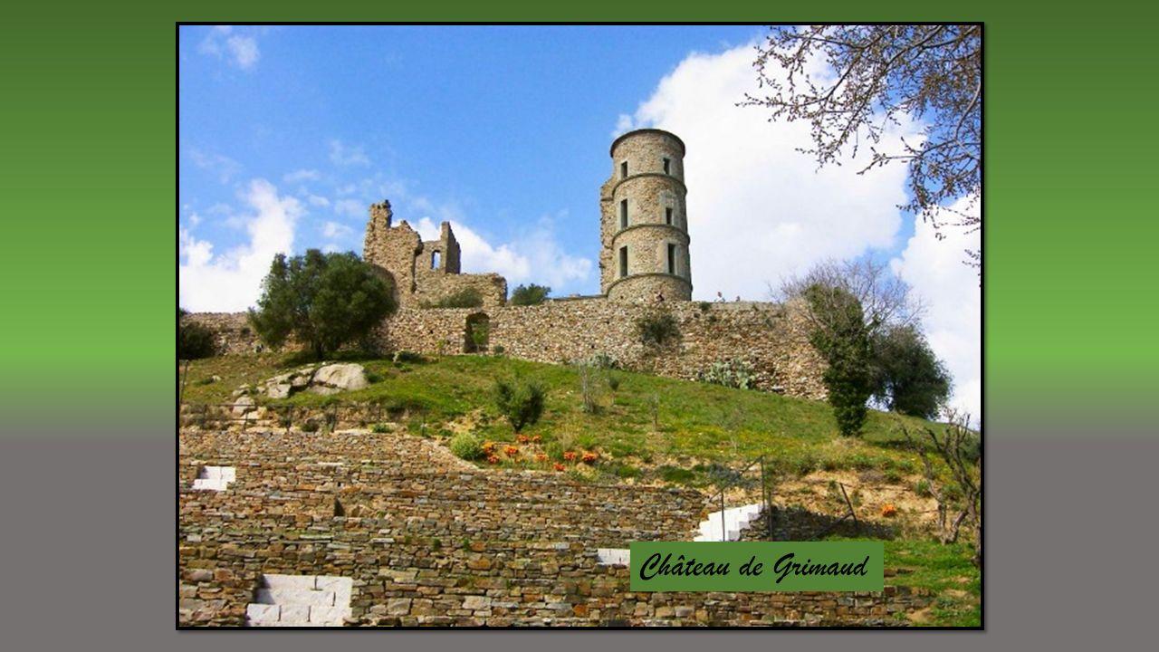 Village perché du Massif des Maures adossé à la forêt de chênes et son château du XIème dominant le golfe de Saint Tropez.