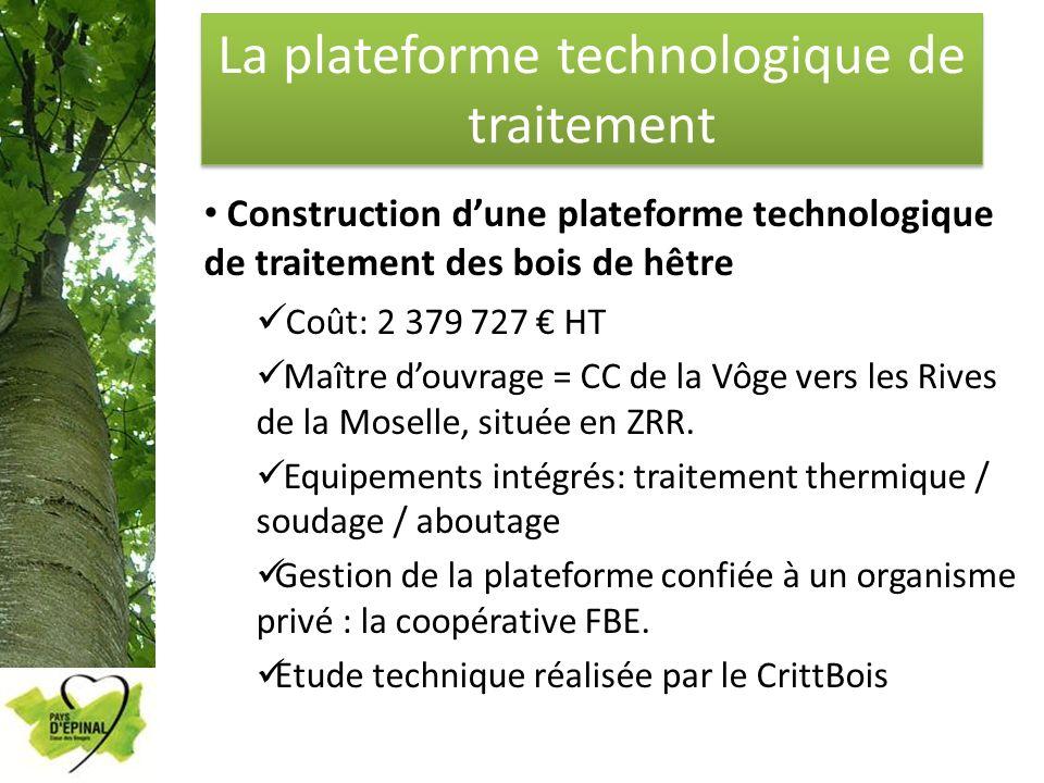 La plateforme technologique de traitement Construction dune plateforme technologique de traitement des bois de hêtre Coût: 2 379 727 HT Maître douvrag