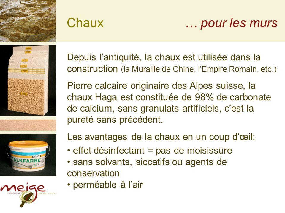 Chaux… pour les murs Depuis lantiquité, la chaux est utilisée dans la construction (la Muraille de Chine, lEmpire Romain, etc.) Pierre calcaire origin