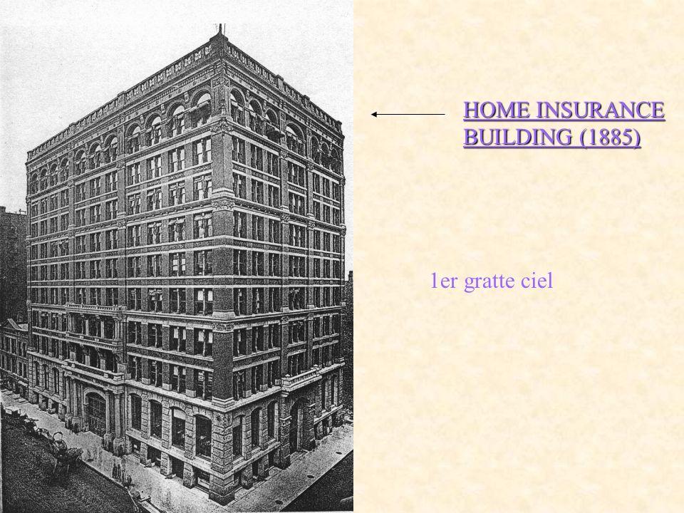 HOME INSURANCE BUILDING (1885) 1er gratte ciel