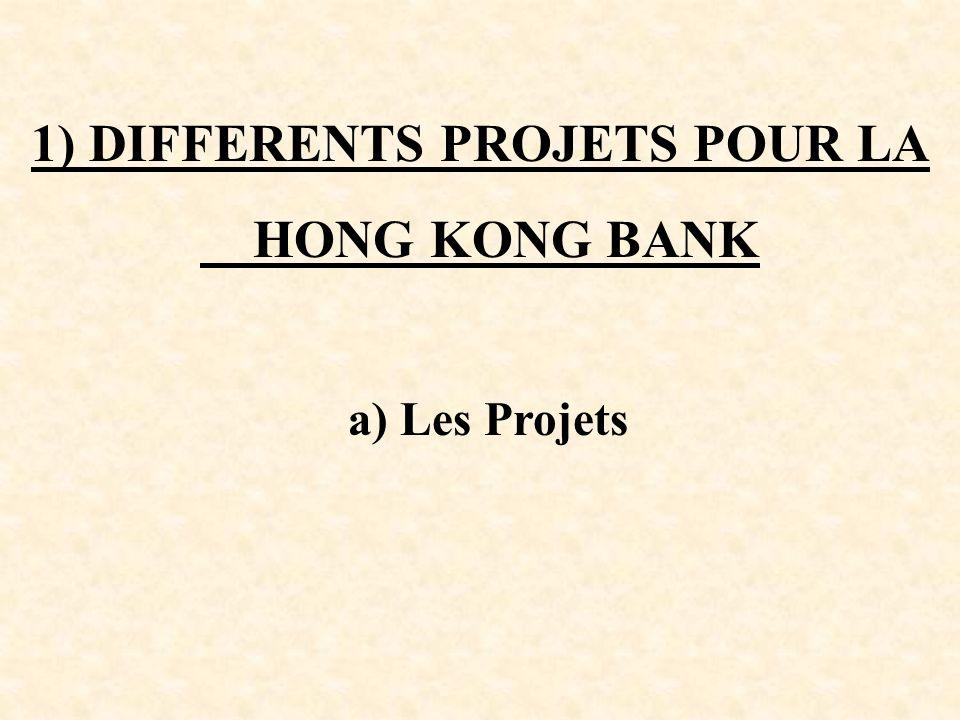 a) Les Projets 1) DIFFERENTS PROJETS POUR LA HONG KONG BANK