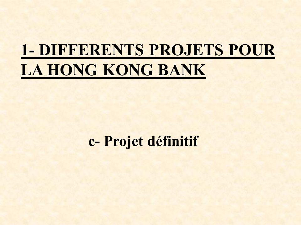 1- DIFFERENTS PROJETS POUR LA HONG KONG BANK c- Projet définitif