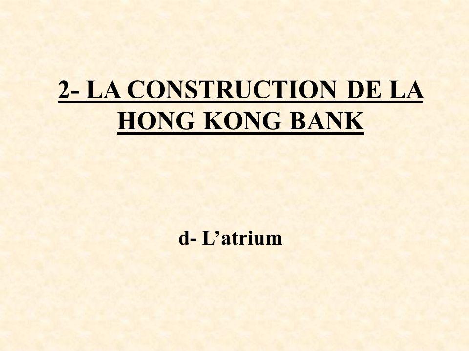2- LA CONSTRUCTION DE LA HONG KONG BANK d- Latrium