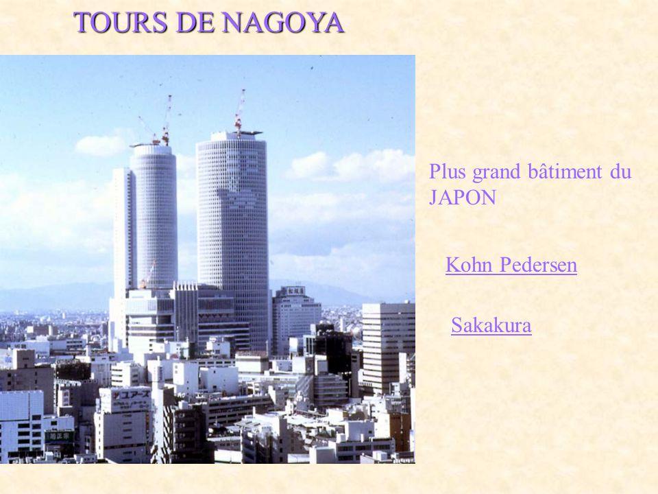 TOURS DE NAGOYA Plus grand bâtiment du JAPON Kohn Pedersen Sakakura