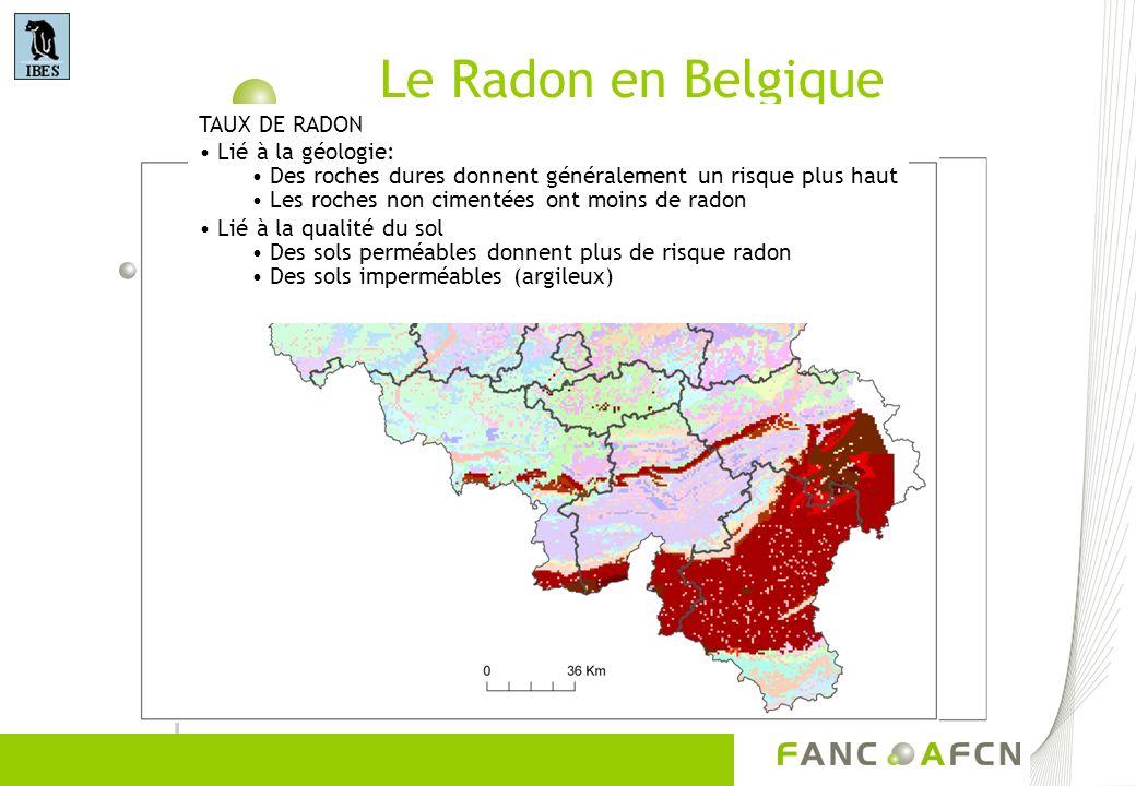 Le Radon dans les roches