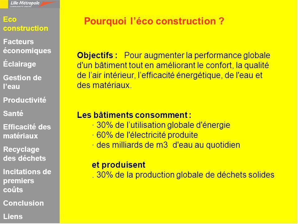 Objectifs : Pour augmenter la performance globale d'un bâtiment tout en améliorant le confort, la qualité de lair intérieur, lefficacité énergétique,