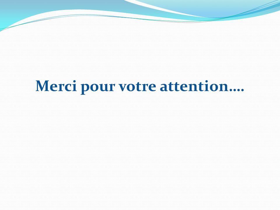 Merci pour votre attention….