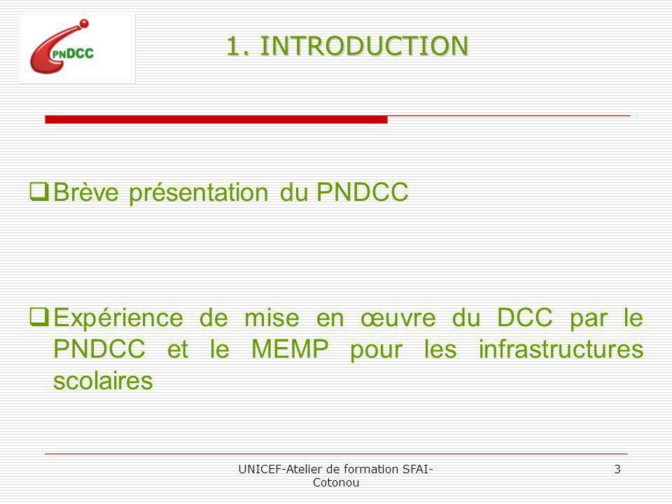 UNICEF-Atelier de formation SFAI- Cotonou 3 1.