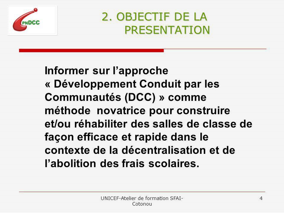 UNICEF-Atelier de formation SFAI- Cotonou 4 2.