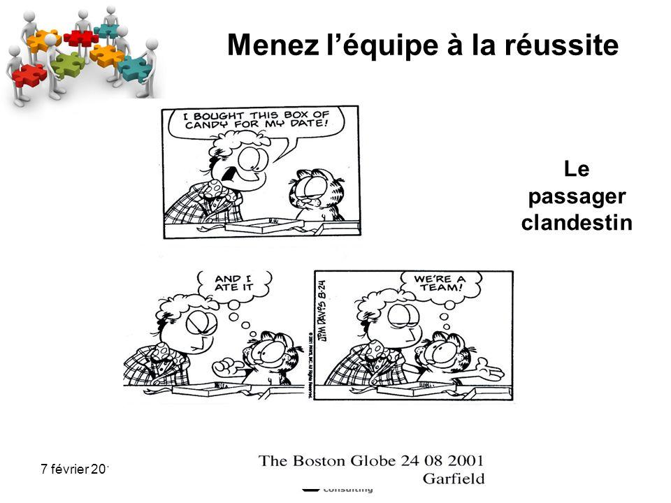 7 février 2012 Menez léquipe à la réussite Le passager clandestin