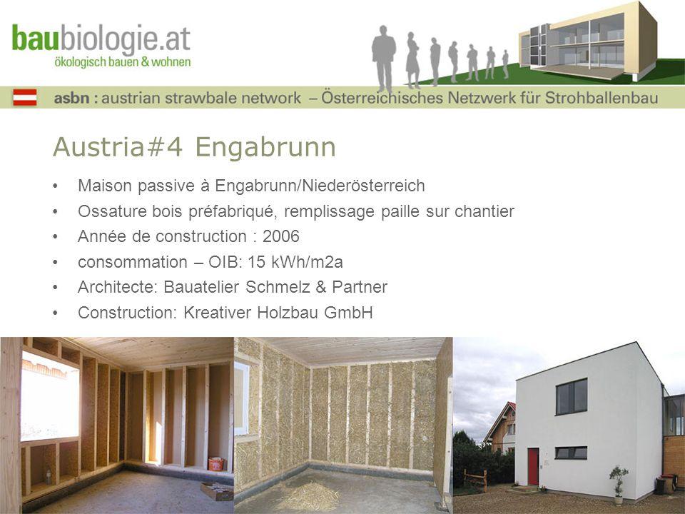 Austria#4 Engabrunn Maison passive à Engabrunn/Niederösterreich Ossature bois préfabriqué, remplissage paille sur chantier Année de construction : 200