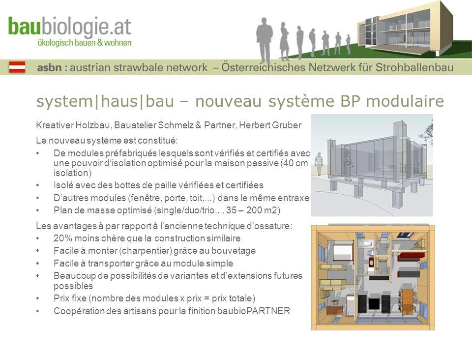 system|haus|bau – nouveau système BP modulaire Kreativer Holzbau, Bauatelier Schmelz & Partner, Herbert Gruber Le nouveau système est constitué: De mo